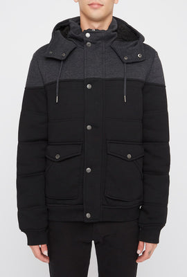 West49 Mens Contrast Hooded Jacket