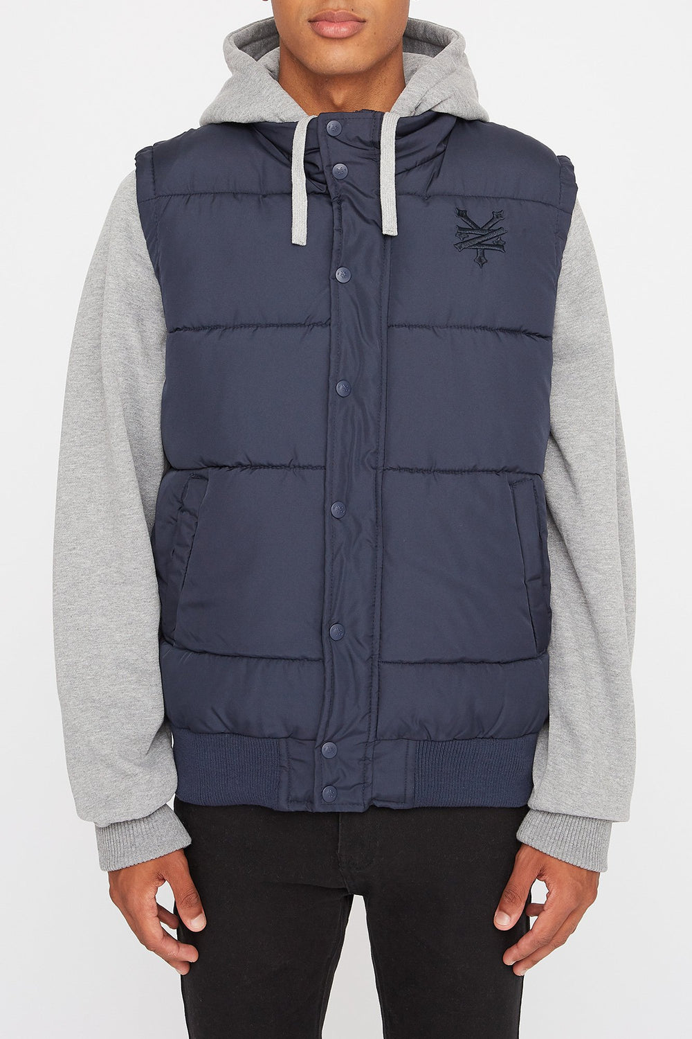 Zoo York Mens Hooded Puffer Vest Navy