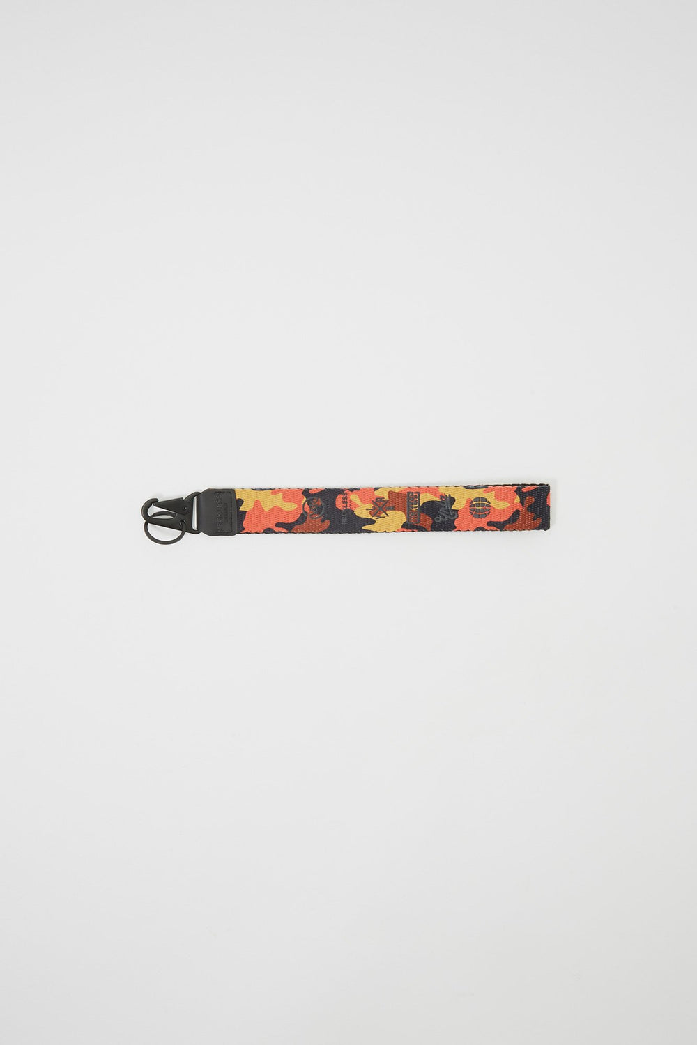 Young & Reckless Camo Lanyard Keychain Orange