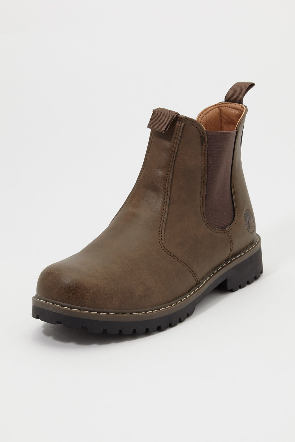 Storm Mountain Mens Pull-On Chelsea Boots Brown