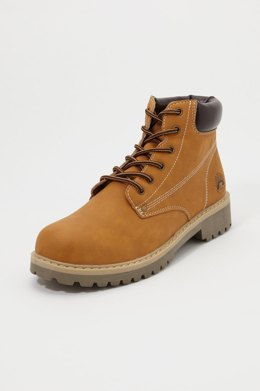 Storm Mountain Mens Lace-Up Boots Tan