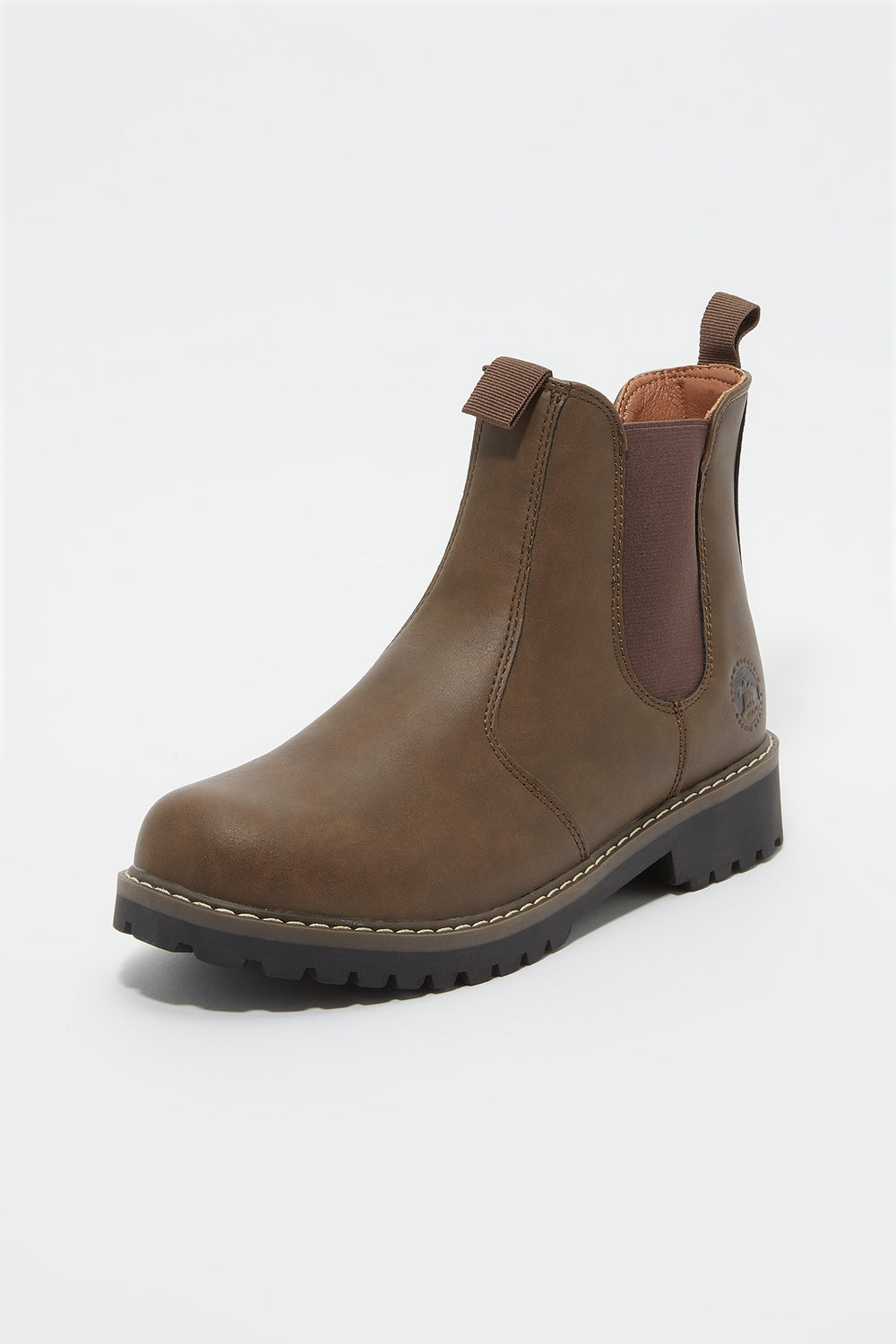 Storm Mountain Mens Pull-On Chelsea Boot Brown