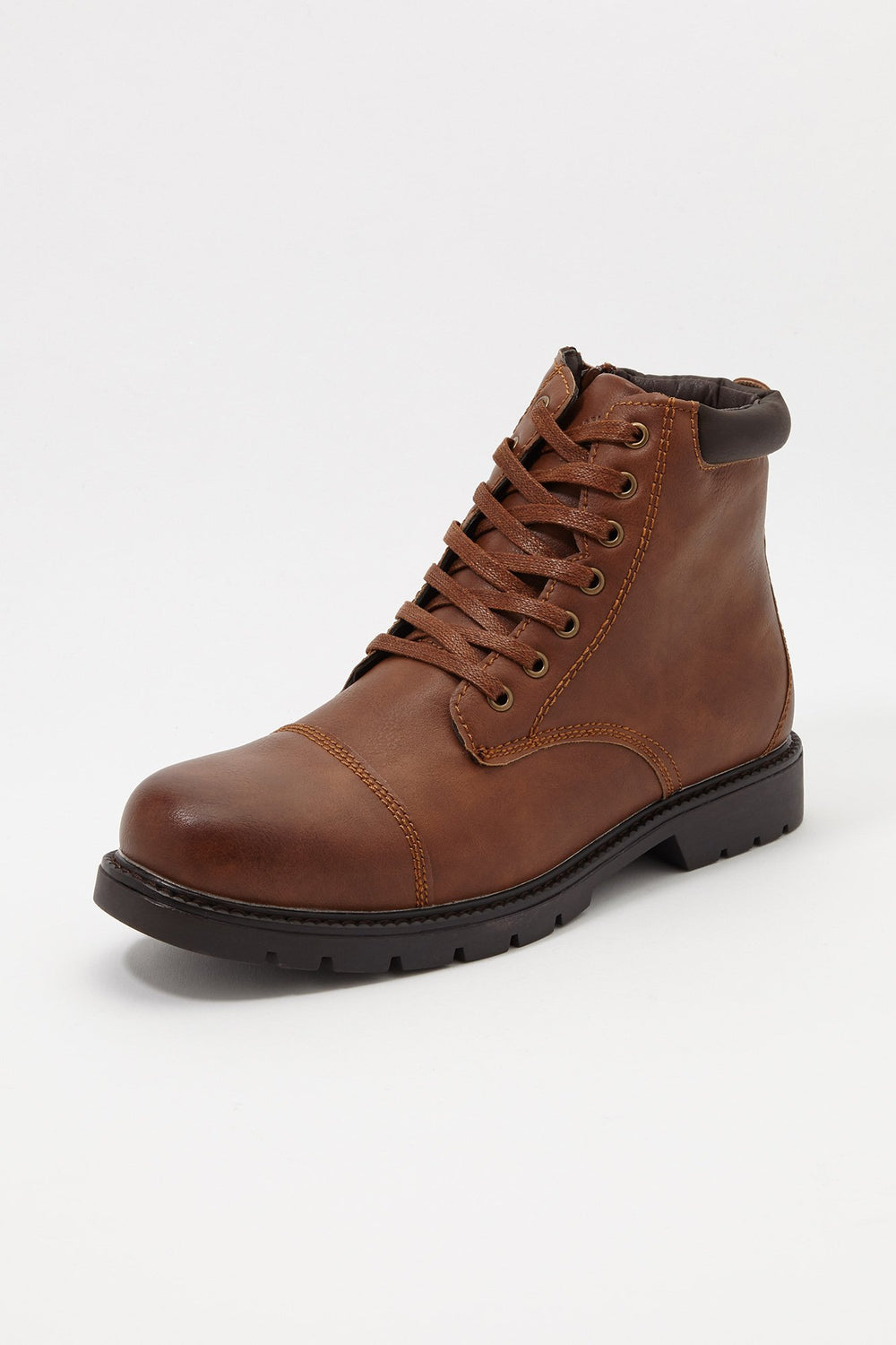 Storm Mountain Mens Lace-Up Boots Dark Brown