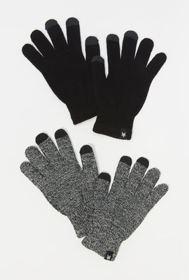 Zoo York Mens Touch Screen Gloves 2-Pack