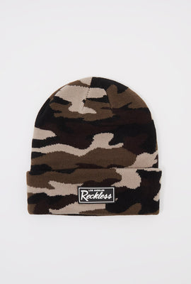 Young & Reckless Mens Camo Beanie