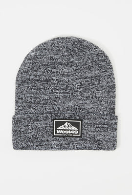 West49 Mens Rubber Patch Beanie
