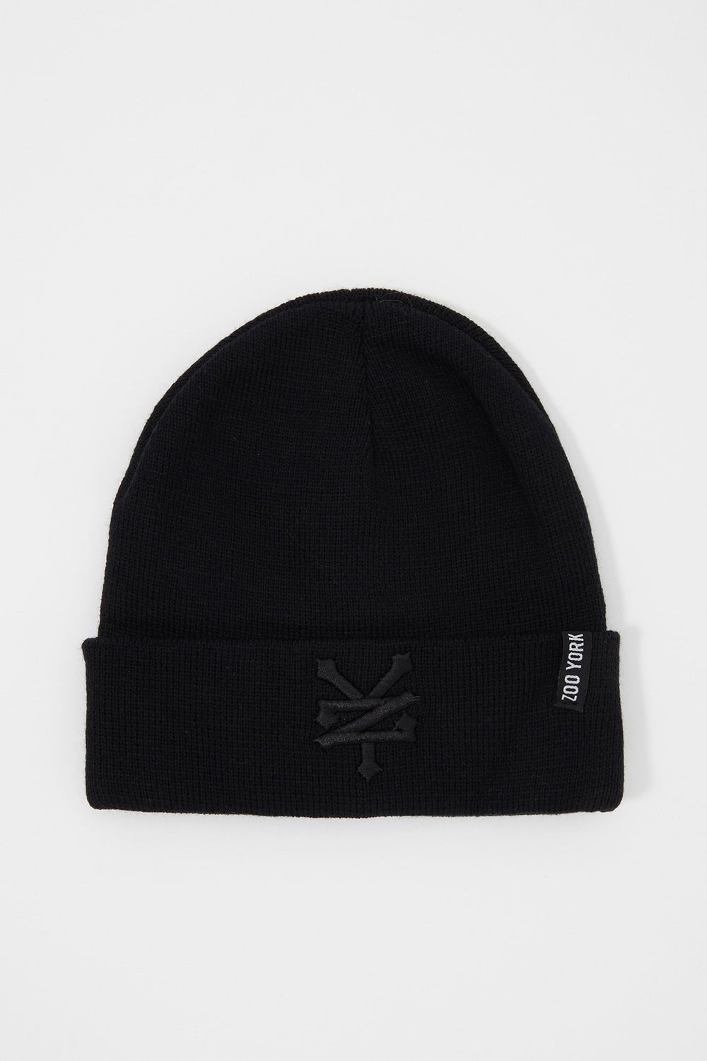 Zoo York Mens Embroidered Beanie Black