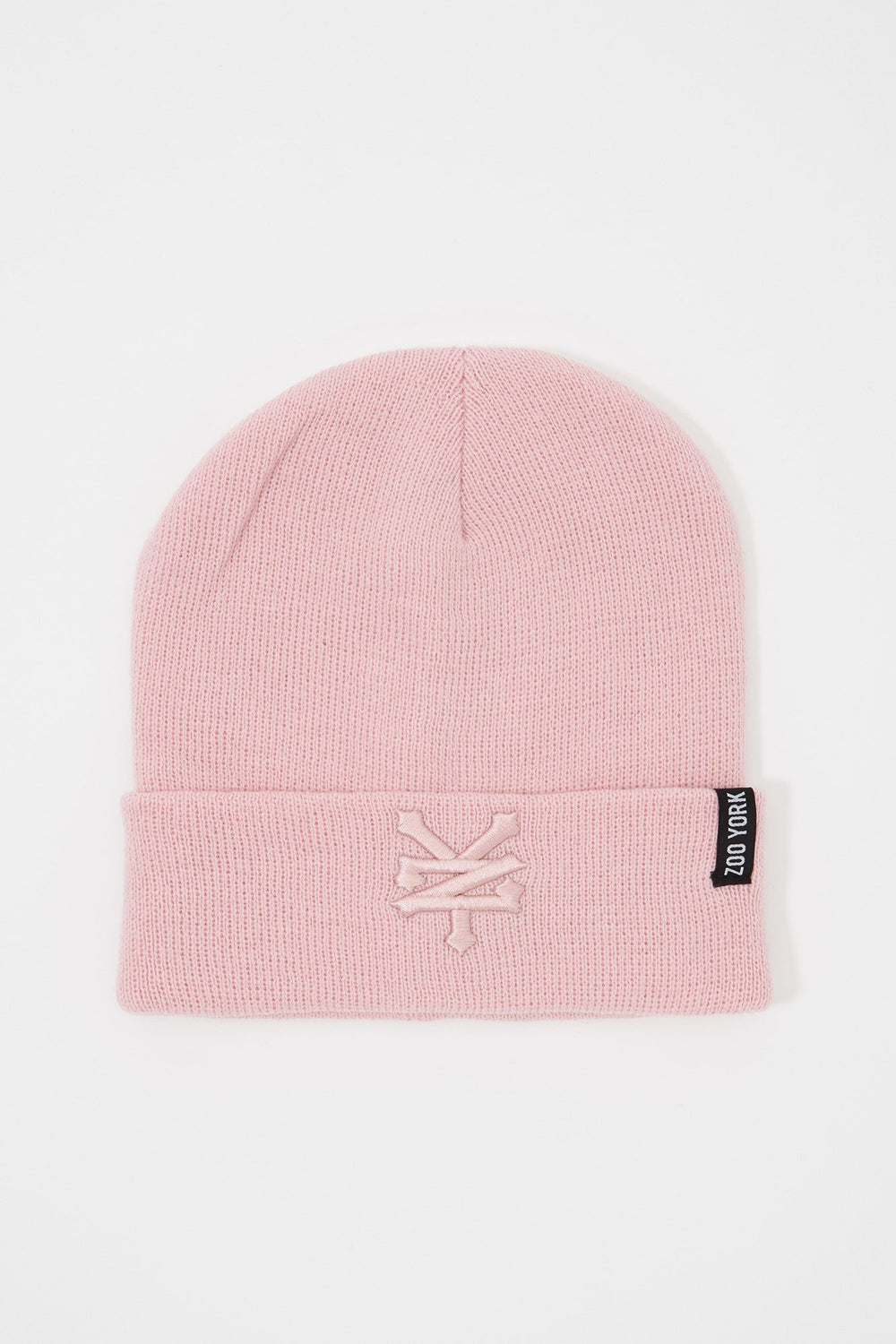 Zoo York Mens Embroidered Beanie Pink