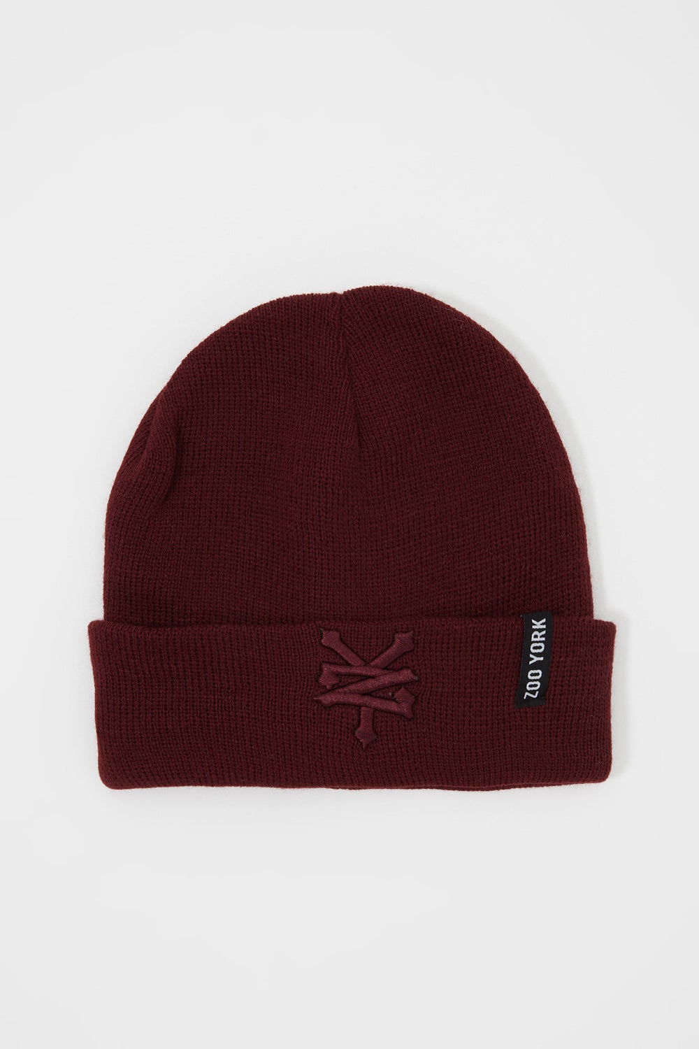 Zoo York Mens Embroidered Beanie Burgundy