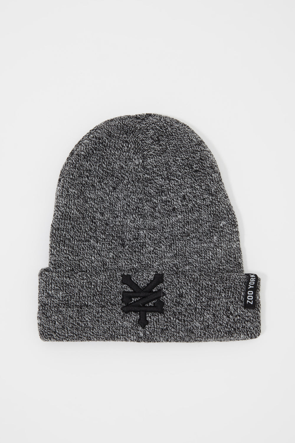 Zoo York Mens Embroidered Beanie Black with White