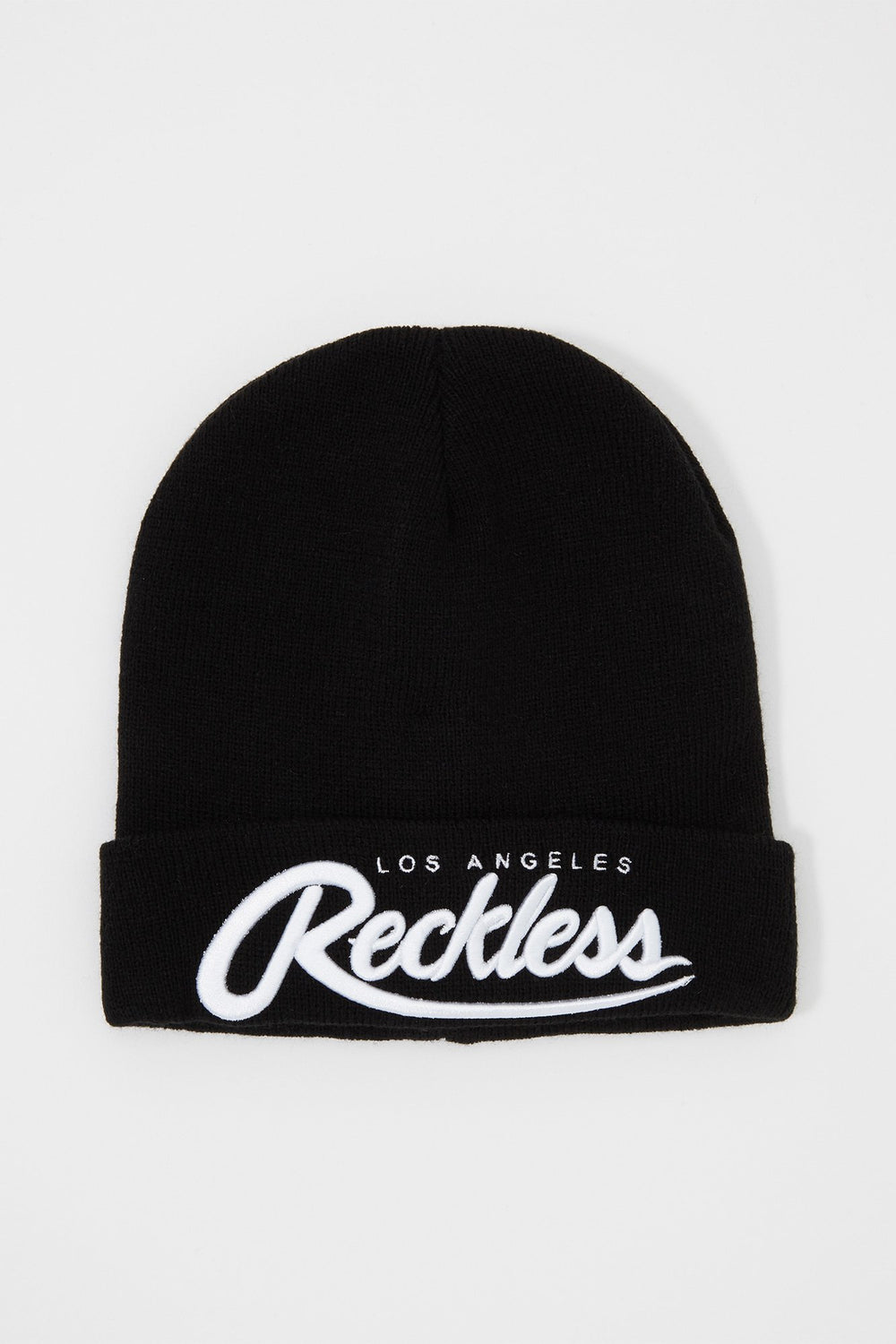Young & Reckless Mens Embroidered Beanie Black