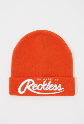 Young & Reckless Mens Embroidered Beanie