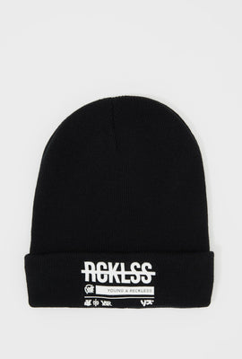 Young & Reckless Mens Rubber Logo Beanie