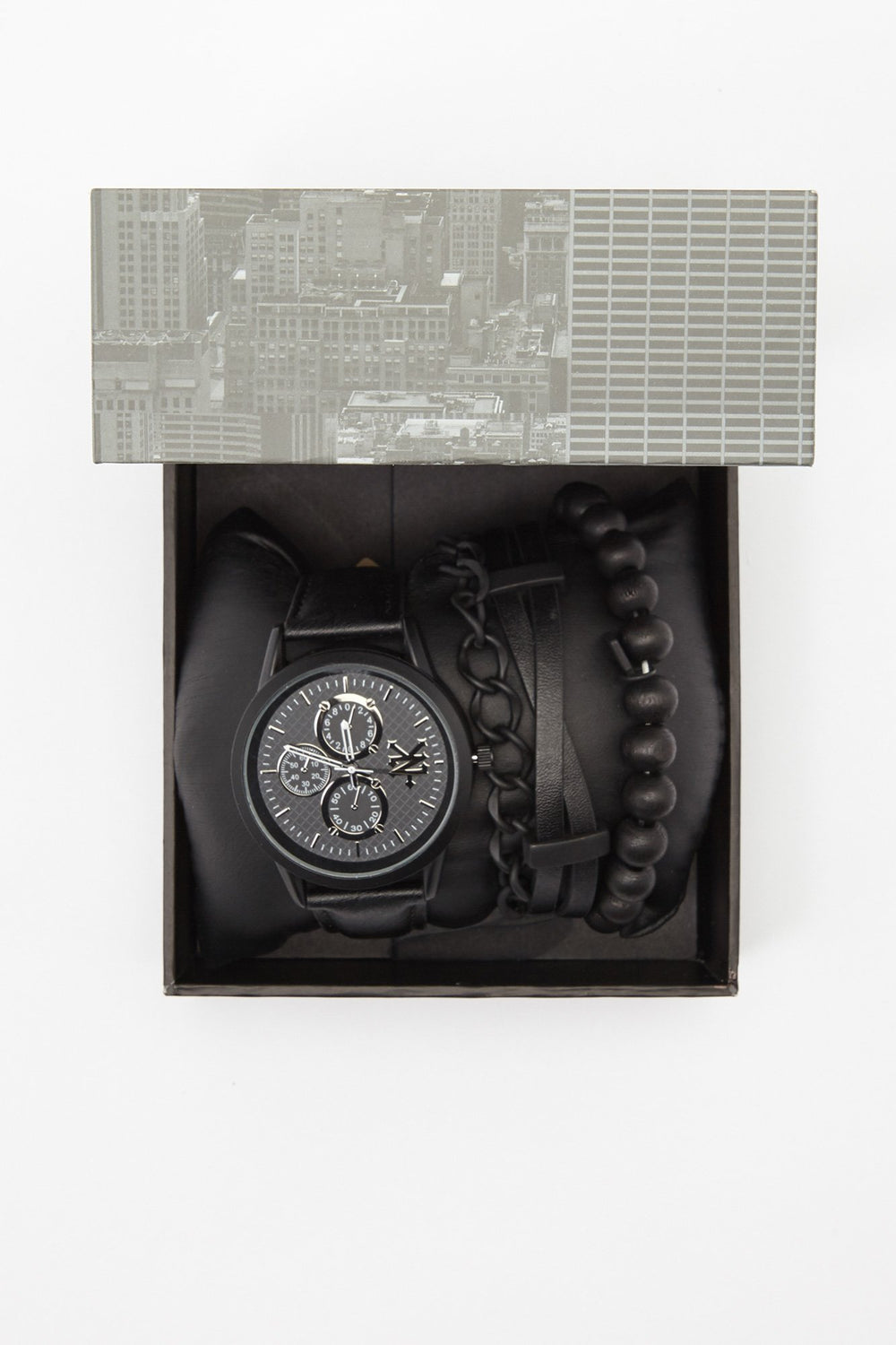 Zoo York Mens All Black Chronograph Watch Black