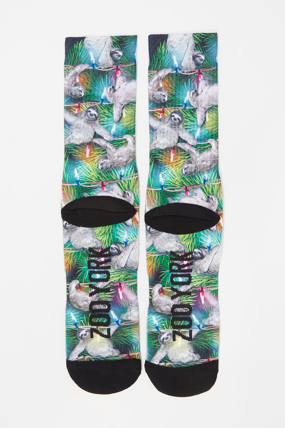 Zoo York Mens Sloth Crew Socks Green