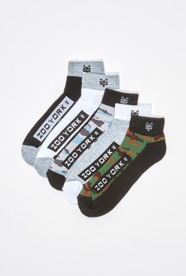 Zoo York Mens Camo Ankle Socks 5-Pack
