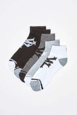 Zoo York Mens Logo Ankle Socks 5-Pack