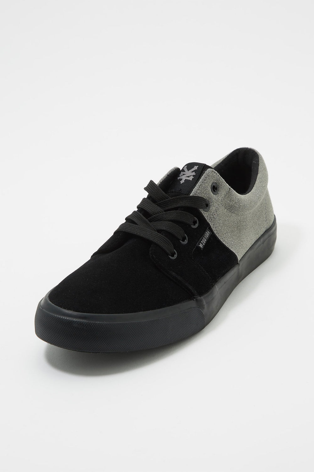 Zoo York Boys All Black Stack Lace-Up Canvas Shoes Heather Grey
