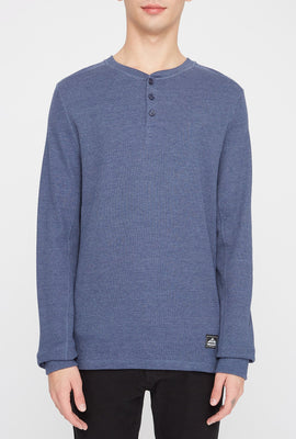 West49 Mens Waffle Henley Long Sleeve Shirt