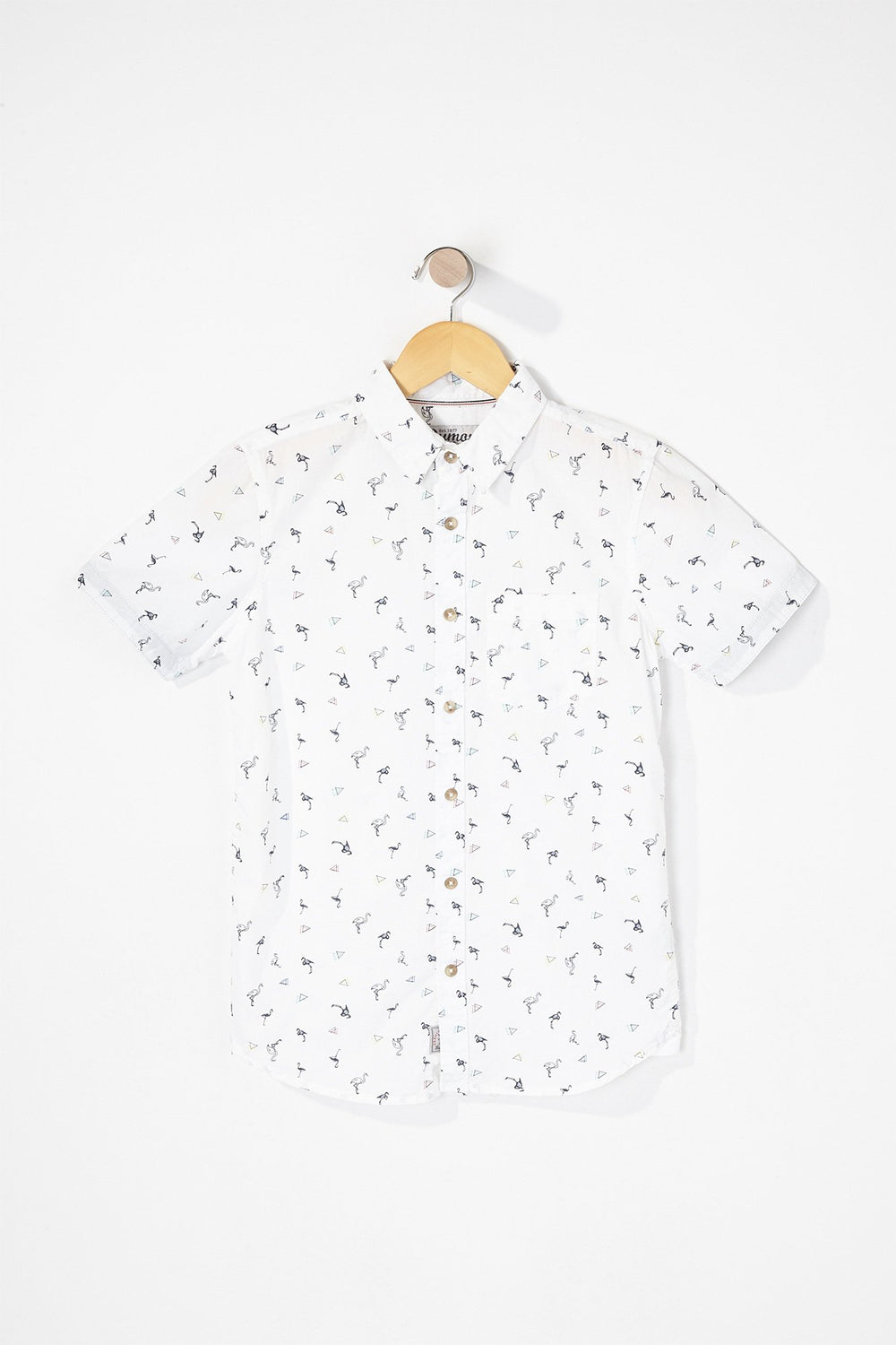 West49 Boys Graphic Button-Up Shirt White