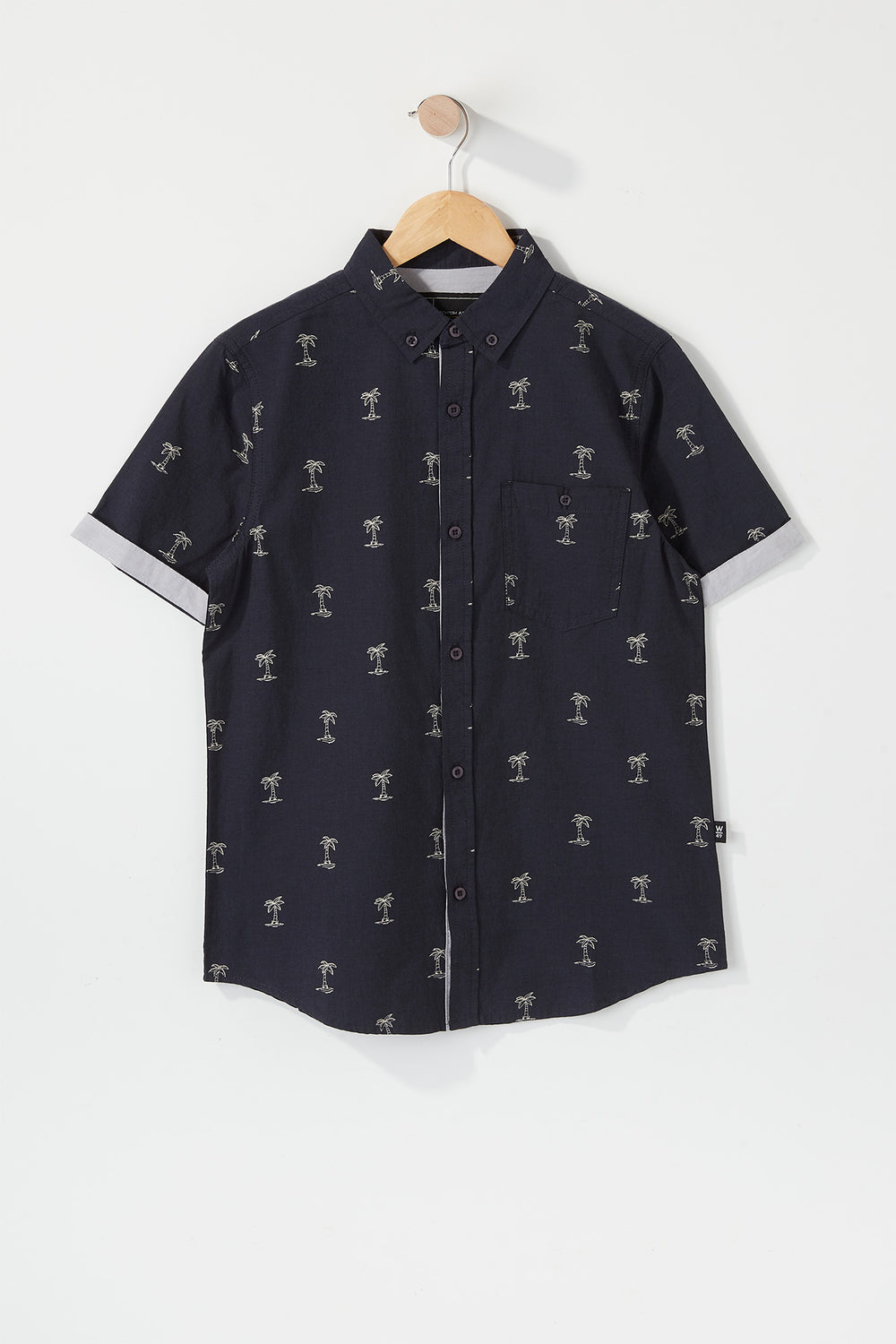 West49 Boys Ditsy Print Button-Up Dark Blue