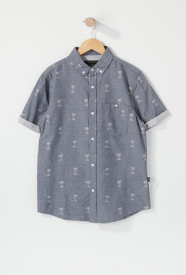 West49 Youth Ditsy Print Button-Up