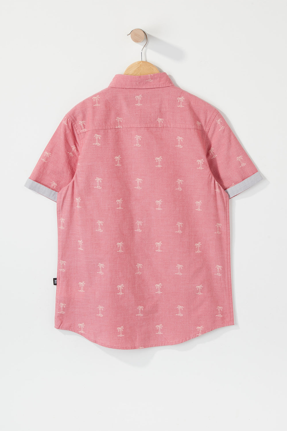 West49 Boys Ditsy Print Button-Up Dusty Rose