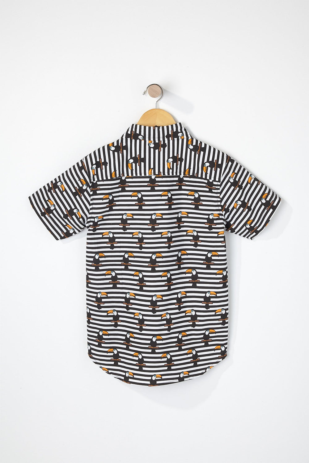 West49 Boys Toucan Button-Up Shirt Black with White