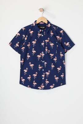 Zoo York Boys Tropical Print Button-Up Shirt