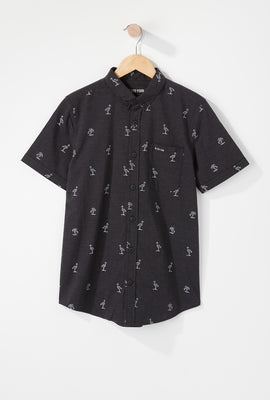 Zoo York Boys Flamingo Button-Up Shirt