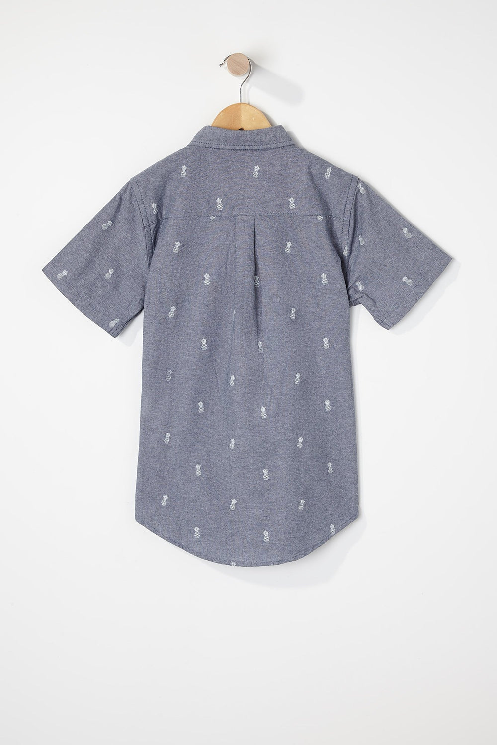 West49 Boys Ditsy Print Button-Up Light Blue