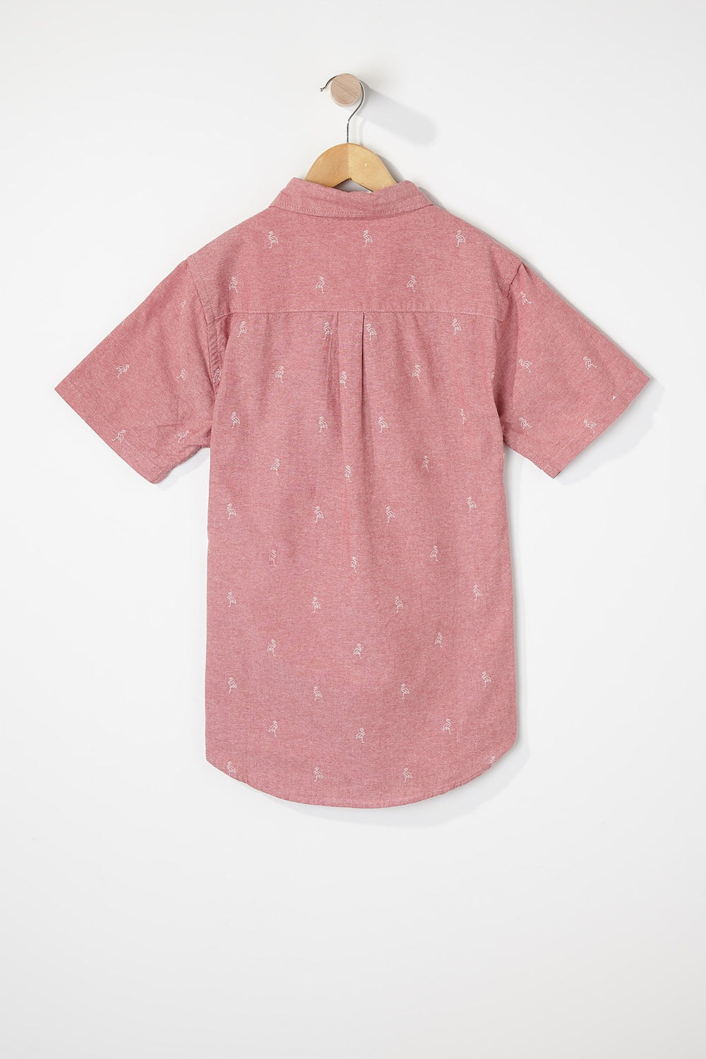 West49 Boys Ditsy Print Button-Up Rose