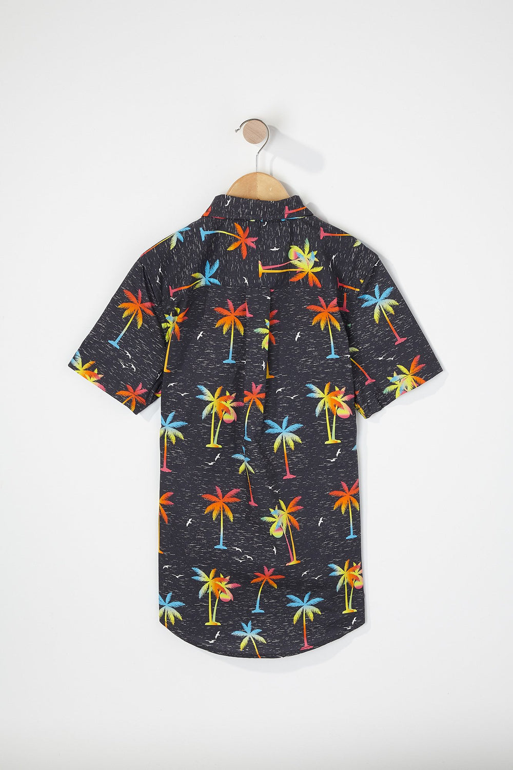 Zoo York Boys Graphic Button-Up Shirt Charcoal