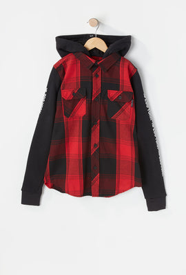 Zoo York Youth Hooded Flannel Button-Up