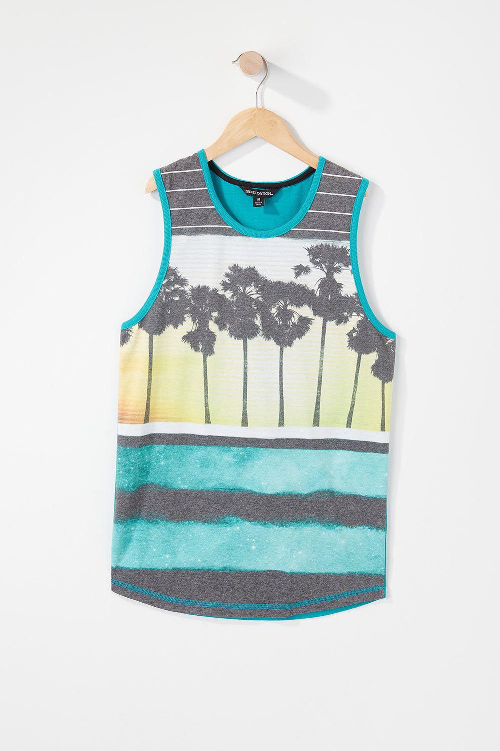 Boys Sunset Tank Top Turquoise