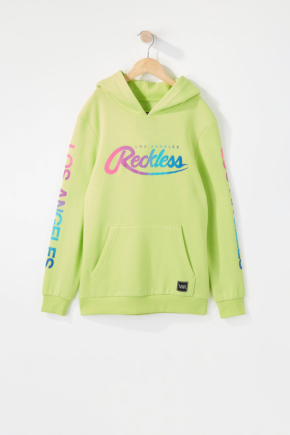 Young & Reckless Boys Gradient Logo Hoodie Neon Green