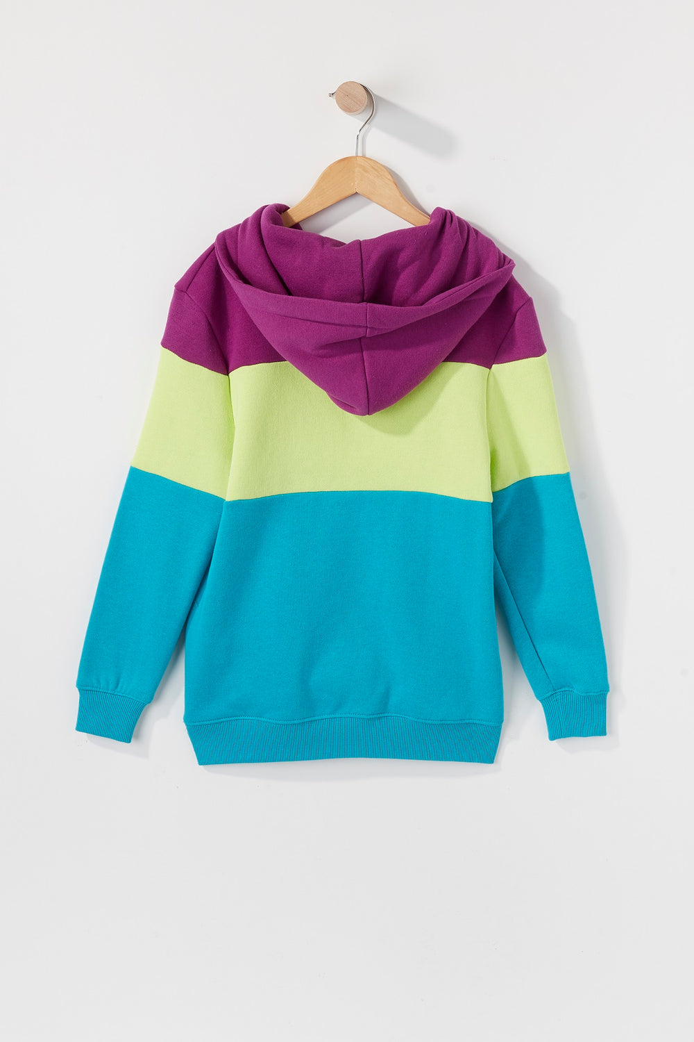 Young & Reckless Boys Colour Block Hoodie Ocean Blue