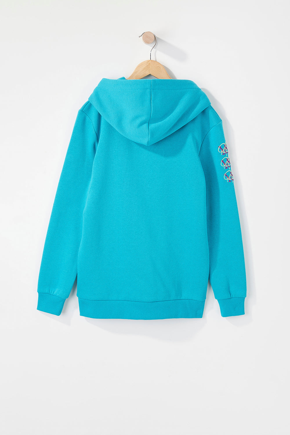 Young & Reckless Boys Cursive Logo Hoodie Ocean Blue