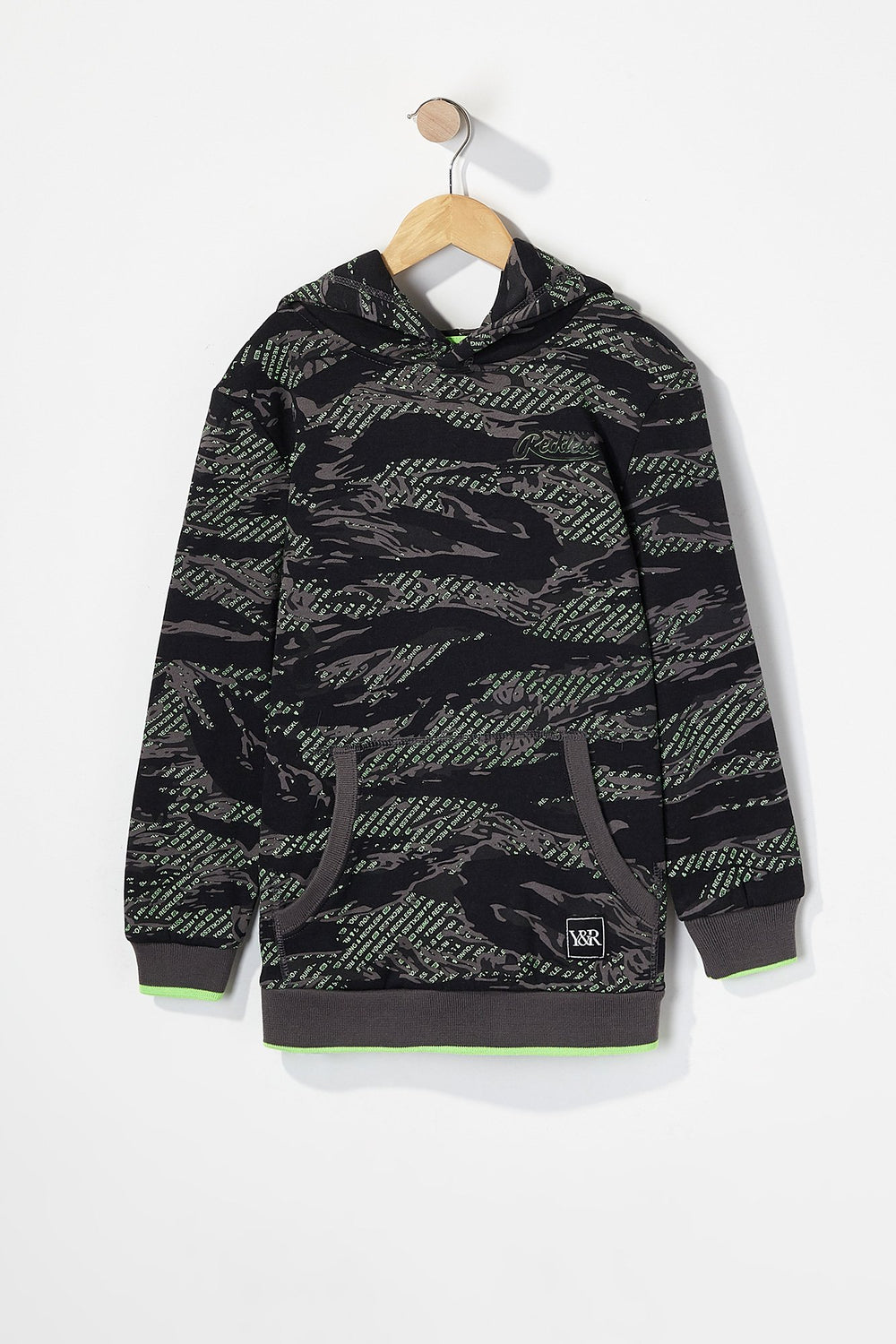 Young & Reckless Boys Camo Hoodie Camouflage