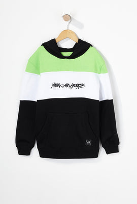 Young & Reckless Boys Neon Colour Block Popover Hoodie