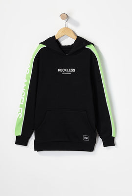 Young & Reckless Boys LA Neon Side Tape Popover Hoodie