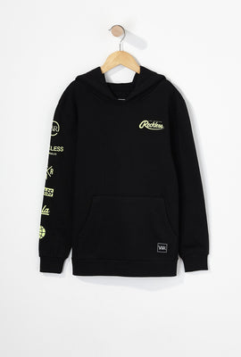 Young & Reckless Boys Embroidered Neon Logo Popover Hoodie