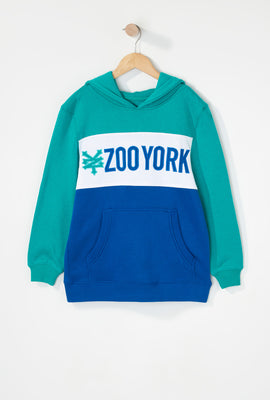 Zoo York Boys Colour Block Hoodie