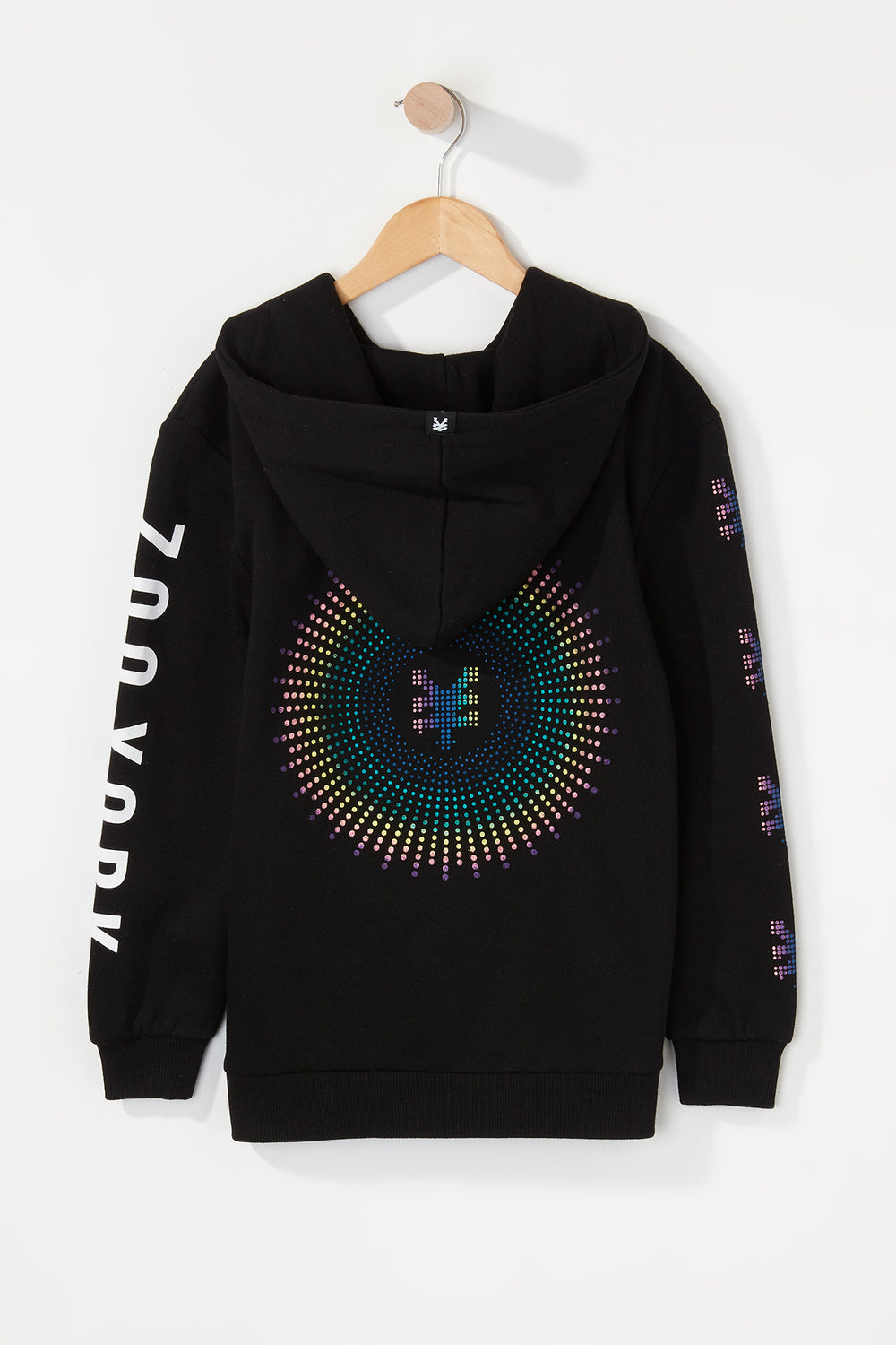 Zoo York Boys Rainbow Dots Hoodie Black