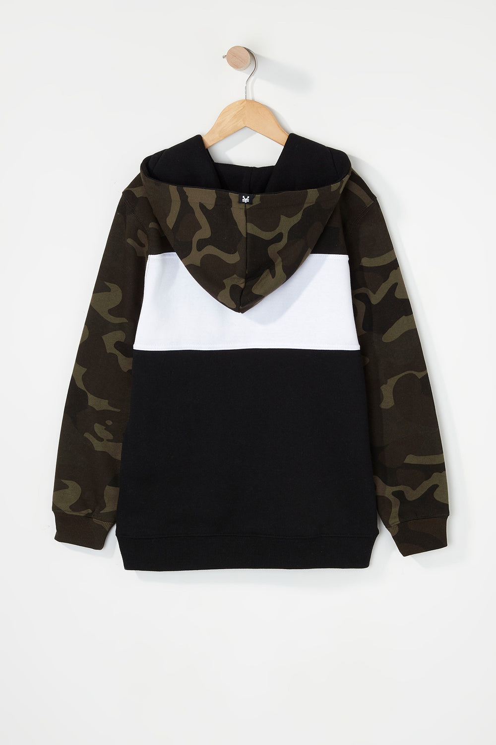 Zoo York Boys Camo Colour Block Hoodie Camouflage