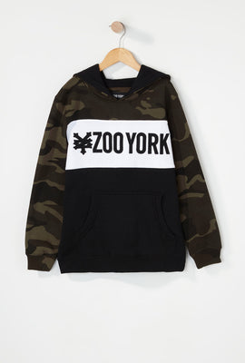 Zoo York Boys Camo Colour Block Hoodie