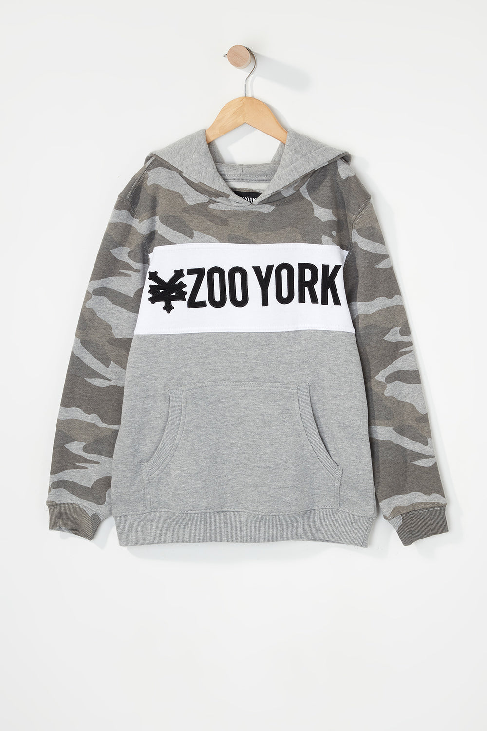 Zoo York Boys Camo Colour Block Hoodie Gingham