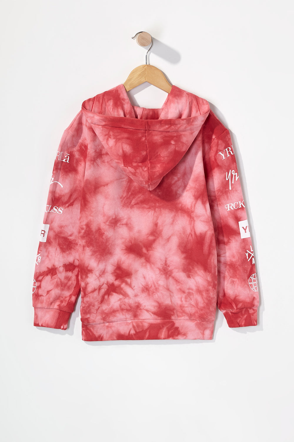 Young & Reckless Boys Tie-Dye Popover Hoodie Red