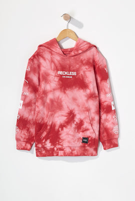 Young & Reckless Boys Tie-Dye Popover Hoodie