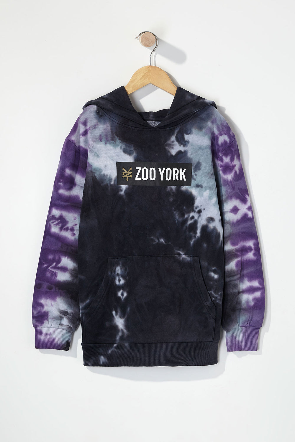 Zoo York Boys Box Logo Tie-Dye Hoodie Black